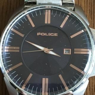厚 17.7 POLICE ポリス ネイビー ローズゴールド 腕時...