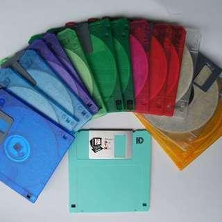 三菱2HDカラーフロッピーディスク15枚+1