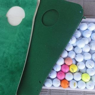 3c72 ゴルフ 家庭用マット2枚 ボール大量 中古品 引取限定