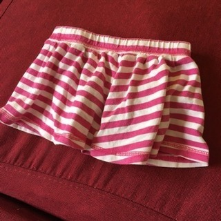 babyGap・スカート 80  ピンク ボーダー パンツ付きスカート