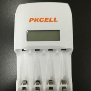 PKCELL 単3 単4 対応 充電器 ニッケル水素電池対応