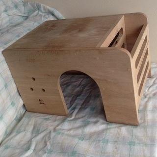 モルモットの小屋、お部屋、木材、