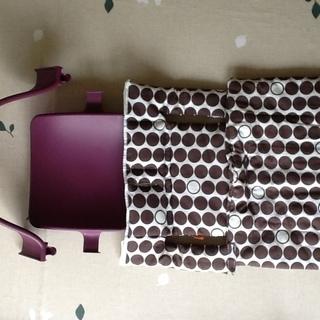ストッケ トリップトラップ ベビーセット 紫 クッション付きです!