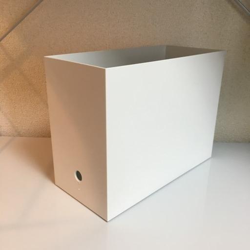 (右)無印良品:ポリプロピレンファイルボックス スタンダードタイプ・A4用