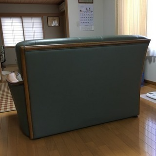 牛革ソファ2人掛け用 - 家具