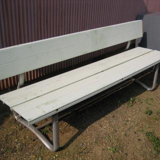 修理前提です 野外用長椅子 ジャンク