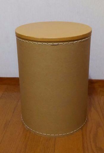 無印良品 収納付円柱スツールの画像
