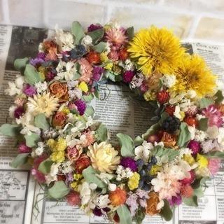 お花お花のナチュラルリース〜自然からの贈り物〜