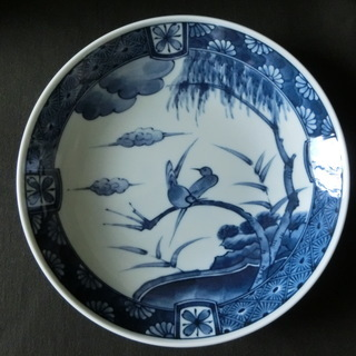 【未使用】 中皿 藍色  和食器  // Unused Blue ...