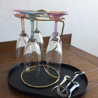 マルチトレー&ワイングラススタンド