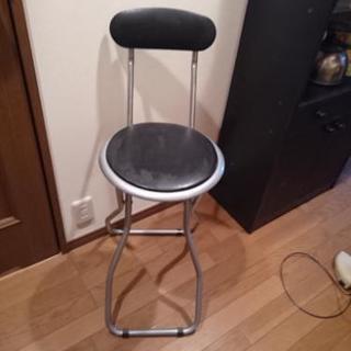 パイプ椅子 いす  ハイタイプ カウンターなどに