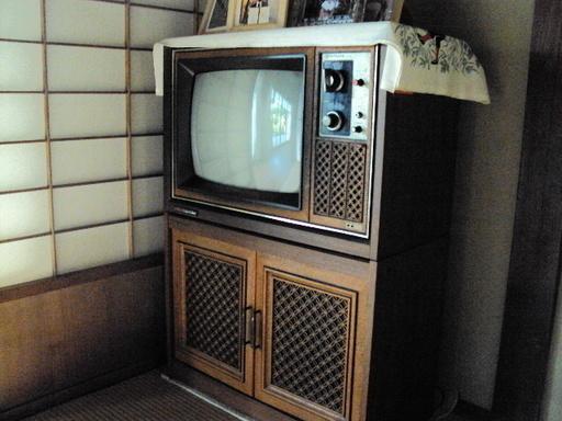 昭和レトロ家具調テレビ (もりとも) 旭のテレビ《ブラウン管テレビ》の中古あげます・譲ります ジモティーで不用品の処分