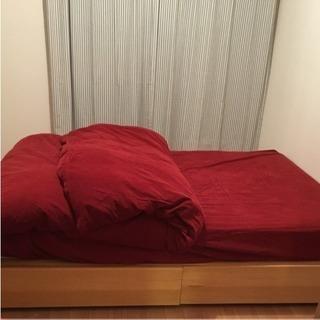 ベッドカバー 布団カバー 無印良品 送料込みの画像