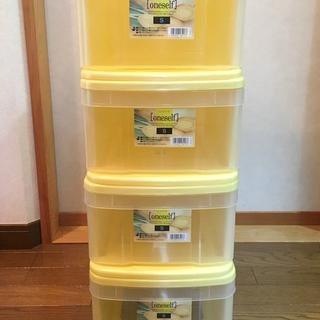 収納ボックス4個 / アイリスオーヤマ / ワンセルフS