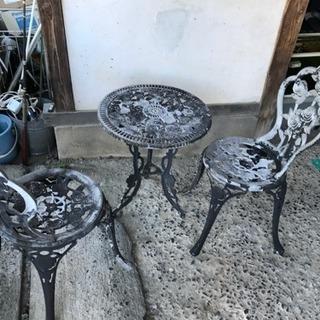 ガーデンテーブル チェアー3点セット