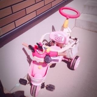 ミニーちゃん三輪車 あげます