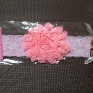 お値下げ【新品未使用】ピンクのお花❁ベビーヘアバンド