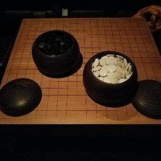 囲碁用 高級碁盤&碁石セット