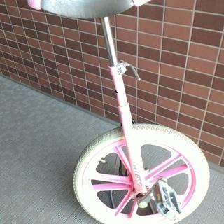 一輪車18インチ ピンク