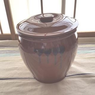 陶器 蓋付半胴かめ 梅干しなど