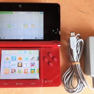 ☆任天堂 NINTENDO 3DS CTR-001 本体 レッ...