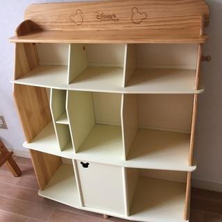 【ディズニー英語システム】 白木の本棚 【DWE】