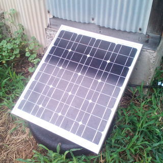 単結晶 ソーラーパネル 50w 通電確認済