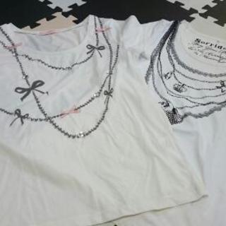 ビジュー付Tシャツセット