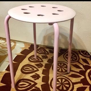 パイプ椅子3つセット☆ピンク♡ホワイト♡ブラック♡