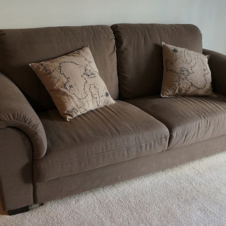 Morden Brown Cozy Sofa for 2.5  (...