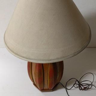 ミッドセンチュリー アンティーク ウッドテーブルランプ