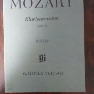 モーツァルト楽譜 ピアノソナタ集 Ⅱ(中古品)