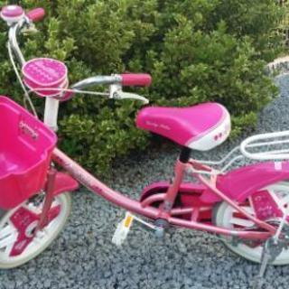 補助輪付き自転車  14インチ 女の子用