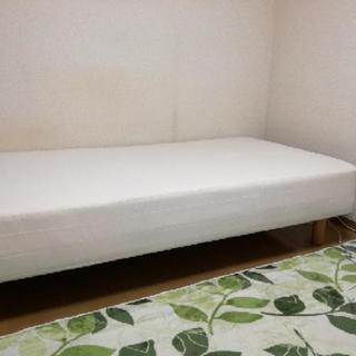 無印良品 シングル足付きマットレス + ベッド下収納ケース3つ付き