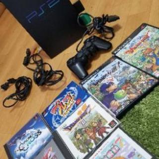 【動作品】PS2本体 コントローラー×2 ソフト付き
