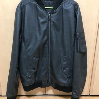 三代目風 MA-1 レザージャケット