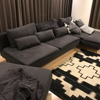 IKEA ソファ 3人がけ 長椅子 オットマン セット