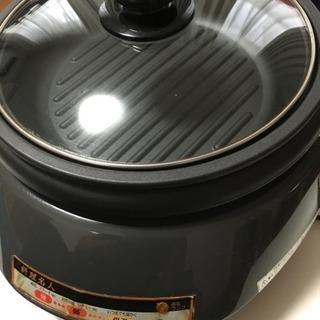 ホットプレート 料理名人 溝つき焼肉プレート&グリル鍋