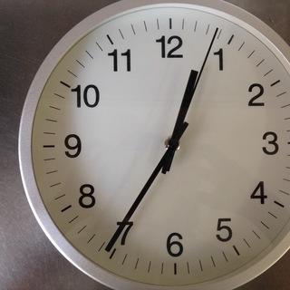 掛け時計 白×シルバー ※平日10-17時の引き取りのみ