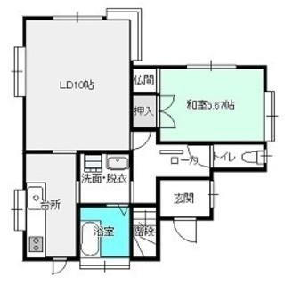 熊谷市江南中央貸家6.8万円 ペット飼育可能な稀少物件