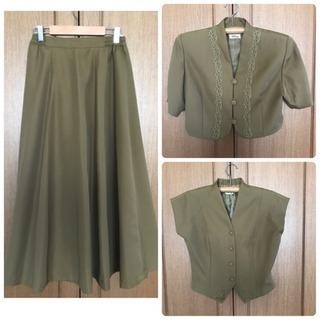 3点セット ボレロ2点 ロングスカート 日本製  M