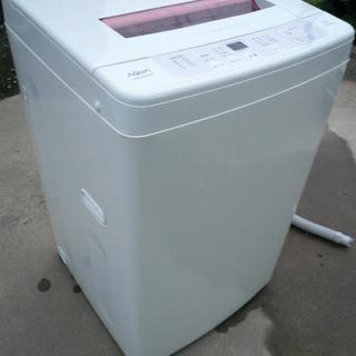 ピンク AQUA アクア 全自動洗濯機 AQW-KS60B 201...