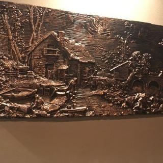 銅板 彫刻 レリーフ 絵画