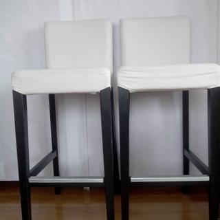 IKEA バースツール 背もたれ付き 2脚
