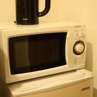 【セット安】小型冷蔵庫+電子レンジ+電気ケトル【バラ売りも可】