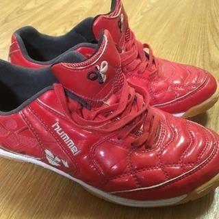 hummel赤色スニーカー24.5センチ