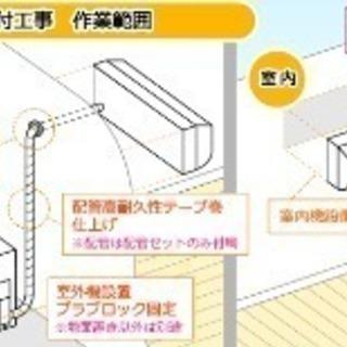 電気工事有資格者エアコン取り付け標準工事で、13000円(税込) ...