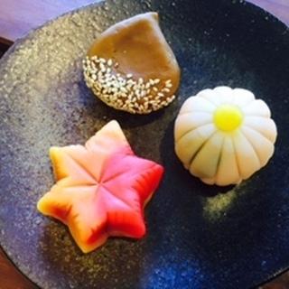 練りきり和菓子アート『菊・紅葉・栗』