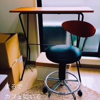 最終!【折りたたみ】テーブルカウンター&カウンターチェアー