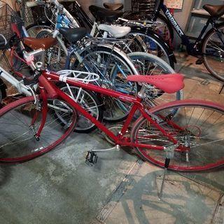 真っ赤なクロスバイク